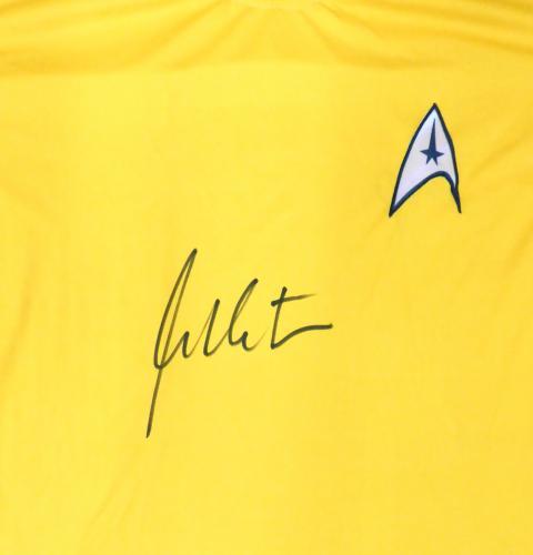 William Shatner Autographed Star Trek Uniform Shirt JSA Stock #178975