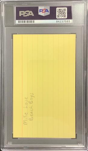 Mike Love Signed Index Card The Beach Boys Singer Music Autograph PSA/DNA