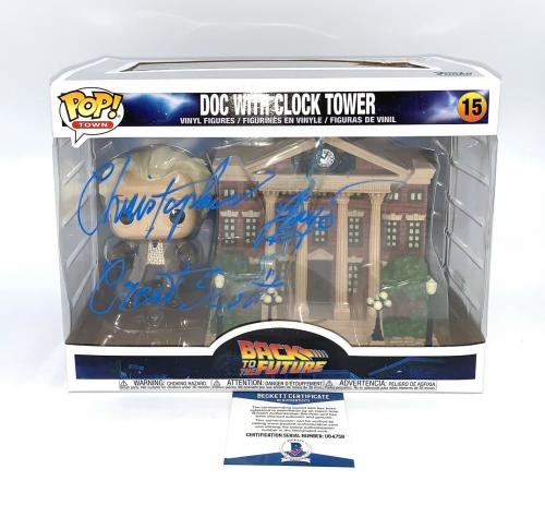 Christopher Lloyd Back To The Future Signed Clock Tower  Funko Pop Auto Bas 5
