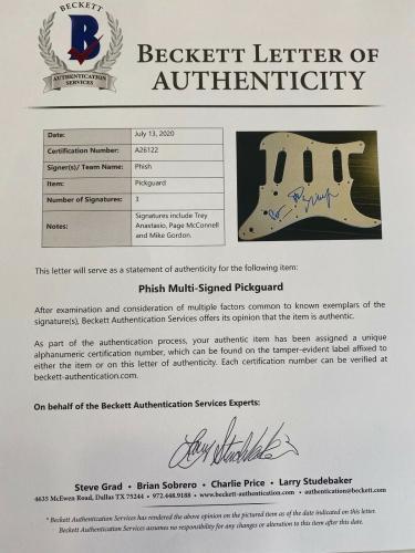 Phish Signed Autograph Electric Guitar Trey Anastasio Mike Page Beckett BAS COA