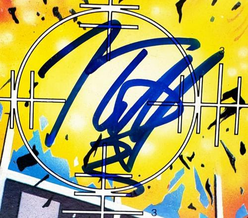 "DEF LEPPARD Band Joe Elliott +3 Signed Autographed ""PYROMANIA"" Album LP JSA"