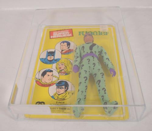 Riddler Action Figure Mego WGSH Worlds Greatest Super Heroes 1977 AFA 85 Batman