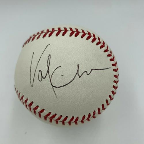 George Clooney Michael Keaton Val Kilmer Batman Cast Signed Baseball JSA COA