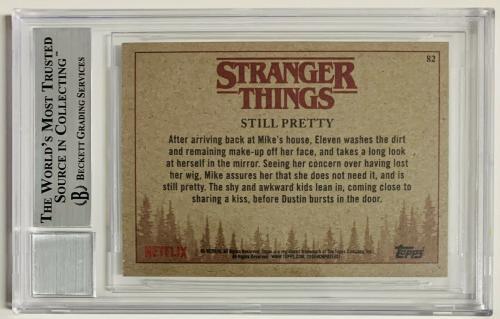 Stranger Things Millie Bobby Brown Signed Topps #82 BAS Beckett Witness 10 Auto