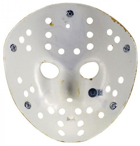 "Ari Lehman Friday The 13th ""F*** Freddy!"" Signed Yellow Jason Mask BAS Witnessed"