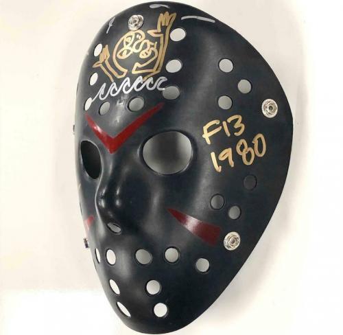 "Ari Lehman signed Friday the 13th ""Jason"" Mask w/ Sketch ~ Beckett BAS COA"