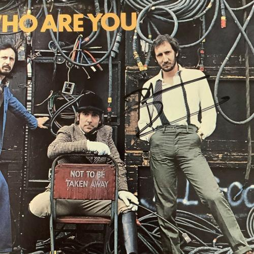 Pete Townshend Signed Vinyl Album Who Are You Music Autograph The Who Vocals JSA