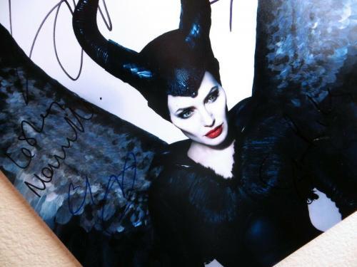 Maleficent Cast Signed Autographed 12X18 Photo Angelia Jolie Riley JSA II59872