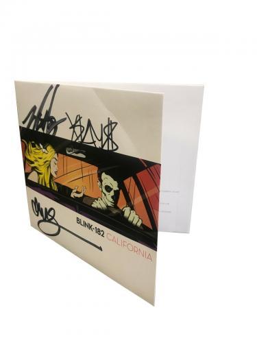 Blink 182 Group Signed California CD Beckett BAS