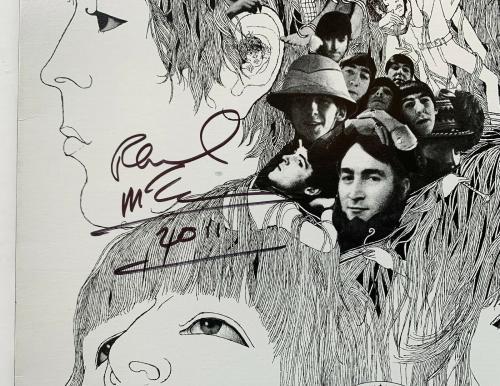 Paul McCartney Autographed Beatles Revolver Vinyl Album signed Beckett BAS COA