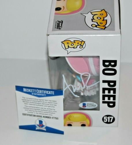 ANNIE POTTS signed (TOY STORY) Disney Bo Peep Funko Pop #517 BECKETT BAS V77521