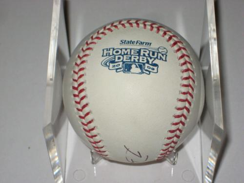 PRINCE FIELDER (Brewers) Signed Official 2009 HOME RUN DERBY Baseball w/ PSA COA