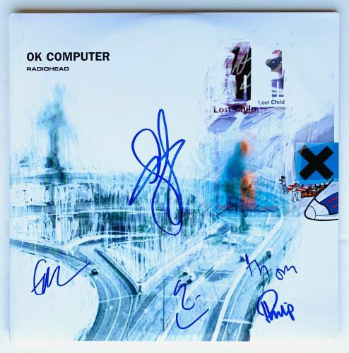 Radiohead Autographed Vinyl Record Album signed by 5 Thom Yorke  Beckett BAS COA