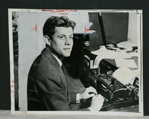 RARE!  1940 John F. Kennedy, Harvard Student Publishes Thesis, Vintage 1 Photo