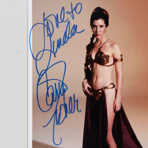 Carrie Fisher Signed Photo Star Wars 8×10 – COA JSA