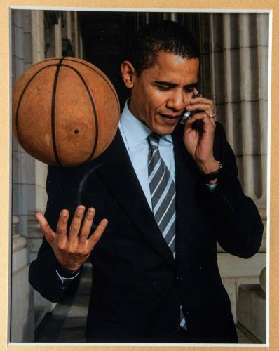 President Barack Obama Signed Punahou High School Basketball Jersey Beckett COA