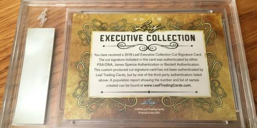 Mark Hamill 2018 Leaf Masterpiece Cut Signature autograph card 1/1 JSA Star Wars