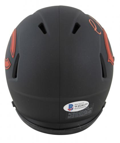 Chevy Chase Christmas Vacation Signed Eclipse Speed Mini Helmet BAS Wit #WD28239