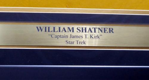 William Shatner Autographed Framed Star Trek Uniform Shirt JSA Stock #185077
