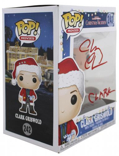 Chevy Chase Christmas Vacation Clark Signed Funko Pop Vinyl Figure BAS #WD24650