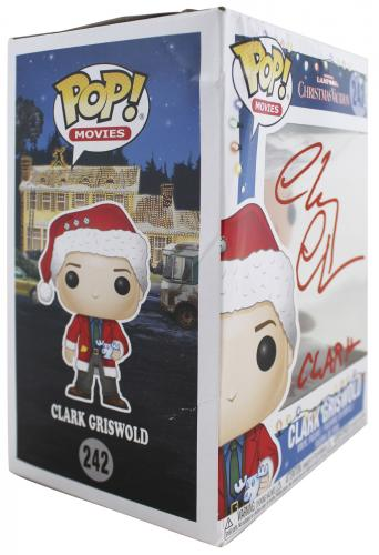 Chevy Chase Christmas Vacation Clark Signed Funko Pop Vinyl Figure BAS #WD24651