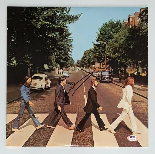 Paul Mccartney Signed The Beatles Abbey Road Record Album Psa Loa Ah01431
