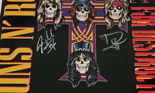Duff McKagan Steven Adler Guns N Roses Signed Appetite For Destruction Album COA