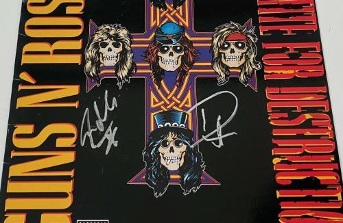 Duff McKagan Steven Adler Guns N Roses Signed Appetite For Destruction Album COA