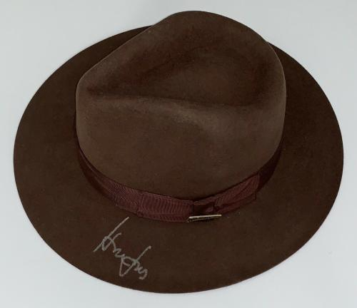 Harrison Ford Signed Indiana Jones Authentic Hat Beckett Bas Loa A35027