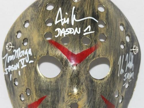 Ari Lehman Kane Hodder & Morga Signed Friday The 13th Gold Mask BAS 29478