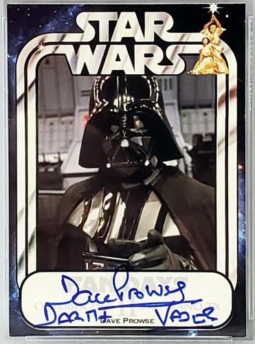 2008 Official Pix DAVE PROWSE Signed DARTH VADER STAR WARS Card PSA/DNA SLABBED