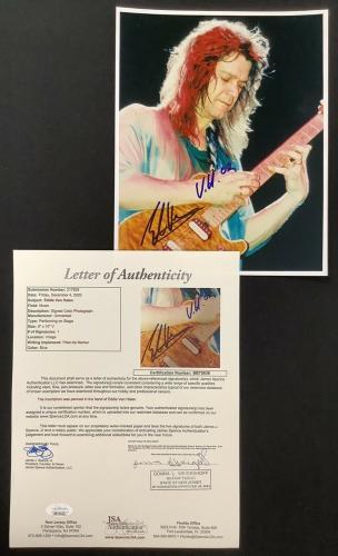 Eddie Van Halen Signed Photo 8x10 GOAT Guitar Autograph VH02 Inscription HOF JSA