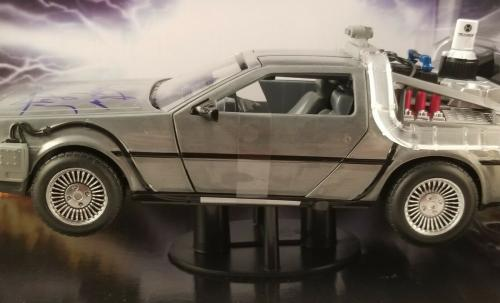"""Christopher Lloyd Autographed Signed """"Back to the Future"""" Delorean 1/24 Car JSA"""