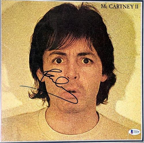 "PAUL McCARTNEY The Beatles Signed ""McCARTNEY II"" Album LP BAS Beckett Framed"
