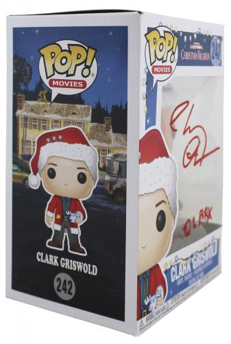 Chevy Chase Christmas Vacation Clark Signed Funko Pop Vinyl Figure BAS #WD24649
