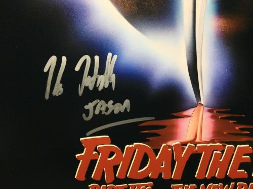 """Kane Hodder Signed 'Friday The 13th' 12x18 Photo """"Jason"""" PSA AI57763"""