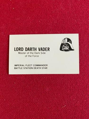 1977, Star Wars, Character Business Cards (Scarce / Vintage)