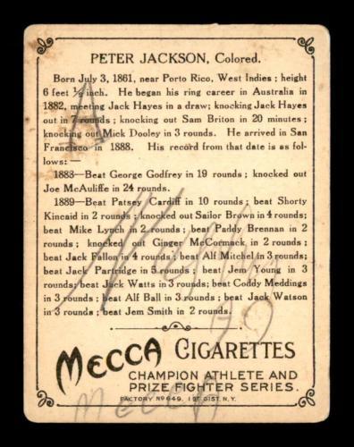 1910 T220 Champions Boxing HOF /& Australian Boxing HOF Peter Jackson.
