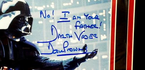 """DAVE PROWSE Signed Star Wars """"DARTH VADER"""" 8x10 Photo w/ Rare Quote BAS #D55151"""