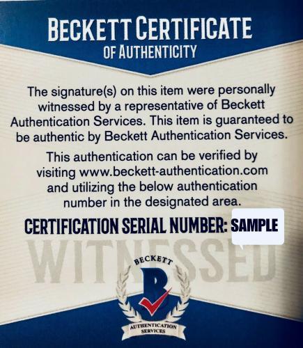 Ben Affleck Autographed 11x14 Batman Photo Batmobile Beckett BAS Witnessed