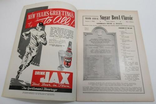 1944 Sugar Bowl Program Georgia Tech v Tulsa Ex/MT+ 68561