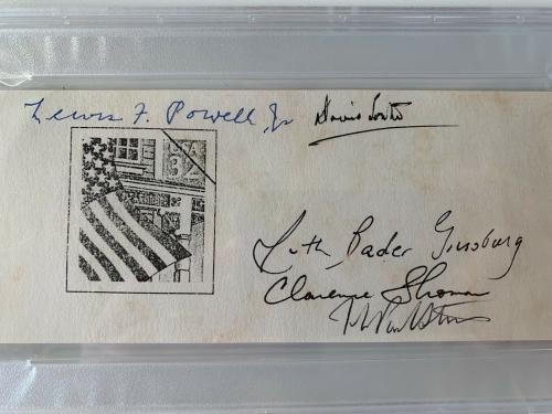 Ruth Bader Ginsburg Supreme Court Justices Signed Autograph Cut PSA DNA j2f1c