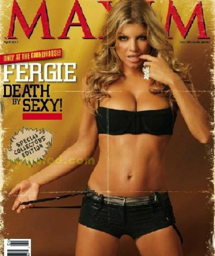 Beckett-jsa Hip Hop Legend Fergie (black Eyed Peas) Signed Maxim 8x10 Photo 2632