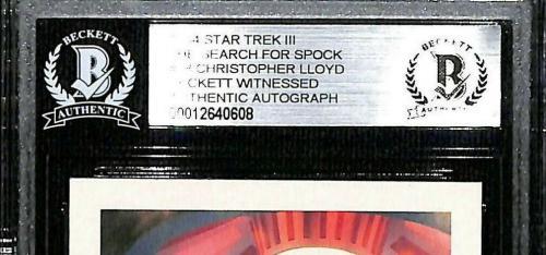 1984 Star Trek III CHRISTOPHER LLOYD Signed Card #38 SLABBED Beckett BAS Witness