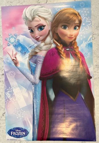 Kristen Bell & Idina Menzel Disney Frozen Dual Signed 34x22 Poster W/ DG COA