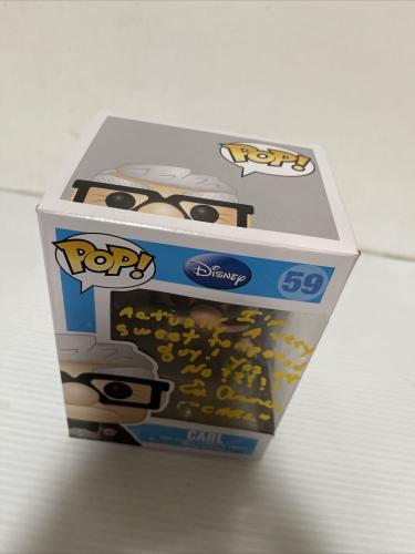 Ed Asner Signed Autographed Carl Up Funko Pop Disney Logo Pixar Beckett COA