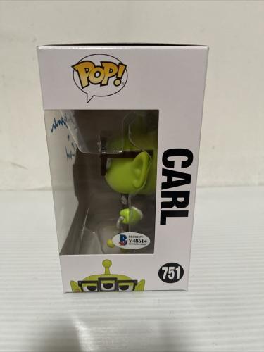Ed Asner Signed Autographed Carl Alien Up Funko Pop Disney Pixar Beckett COA 6