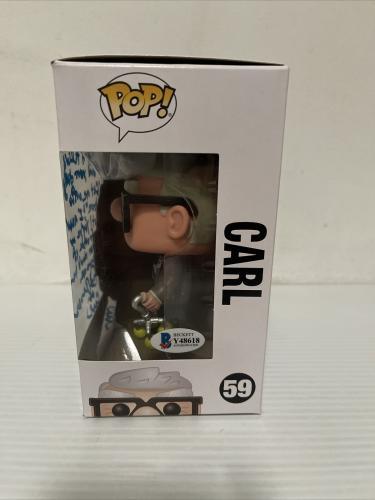 Ed Asner Signed Autographed Carl Up Funko Pop Disney Pixar Beckett COA