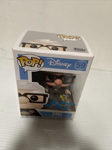 Ed Asner Signed Autographed Carl Up Funko Pop Disney Pixar Beckett COA 9