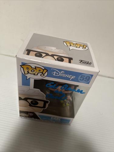Ed Asner Signed Autographed Carl Up Funko Pop Disney Pixar Beckett COA 5